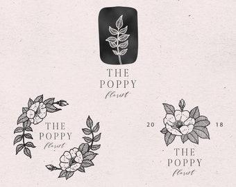 Logo tout prêt, Logo botanique, Logo floral, Logo nature, Logo petite entreprise, Logo cosmetique, Logo bio, Logo boheme, Logo minimaliste