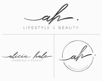 Handwriting Branding design, Modern premade logo, Calligraphy logo design, Photography logo, Boutique logo, Feminine logo, Initials logo