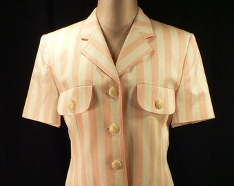 Escada vintage awning stripe shorts outfit - Eur Size 36 (approx US 8)