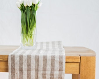 Natural linen table runner, rustic linen table runner, long linen table runner, natural linen table runner, custom length