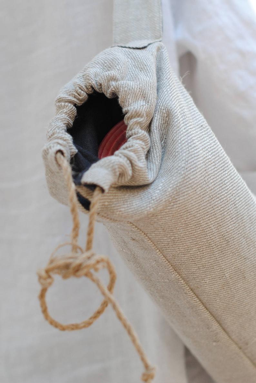 Linen yoga mat bag linen yoga bag with pockets