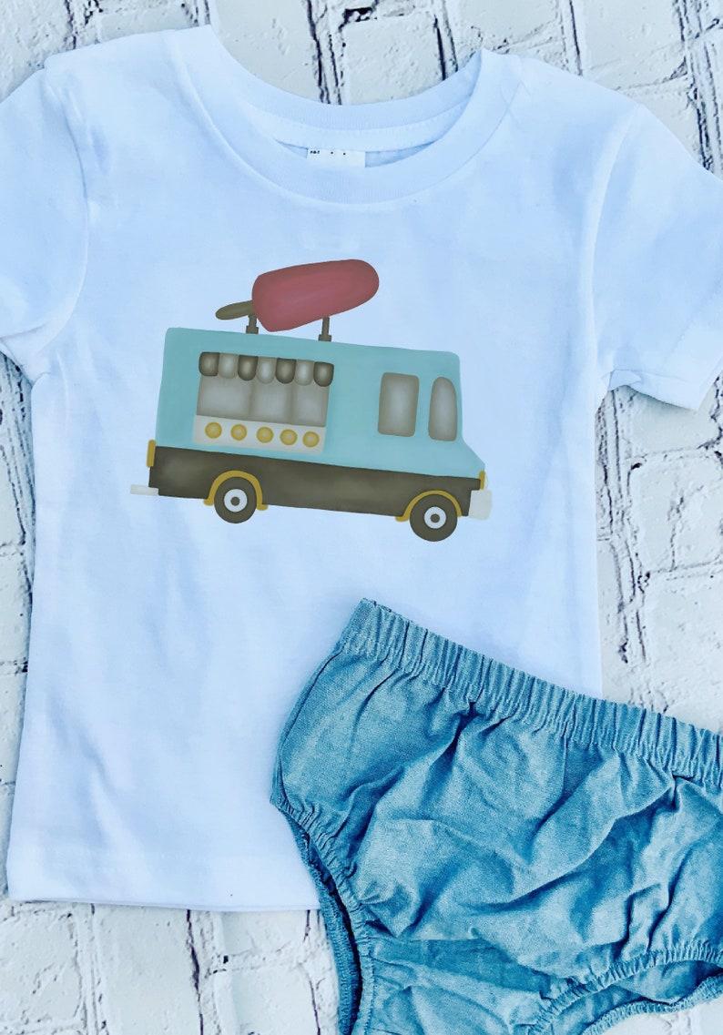 beecf1bb0 Watercolored Ice Cream Truck Tee | Etsy
