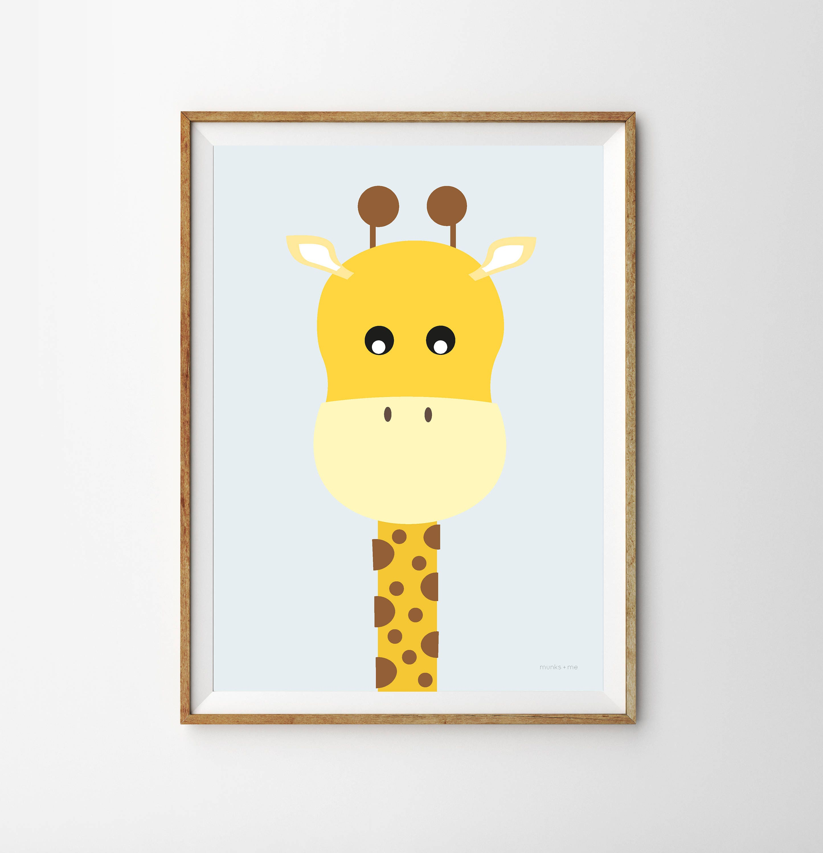 Giraffe Children\'s Print nursery giraffe posters animal   Etsy