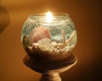 Dazzling Ocean Scene Gel Candles (free shipping)
