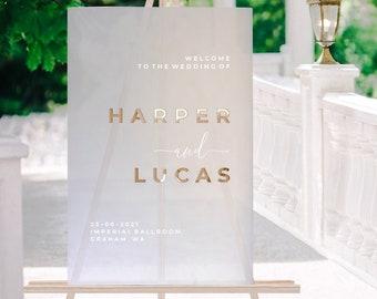 Frosted Acrylic Wedding Welcome Sign  - Wedding Signage - Custom Wedding Sign - Acrylic Wedding Sign - Acrylic Welcome Sign