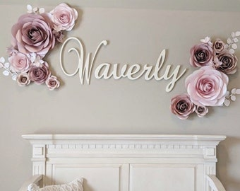 8a9cd6422bdc Luxury Nursery Paper Flowers - Paper Flowers Set - Paper Flower Wall Decor  - Paper Flowers Decoration