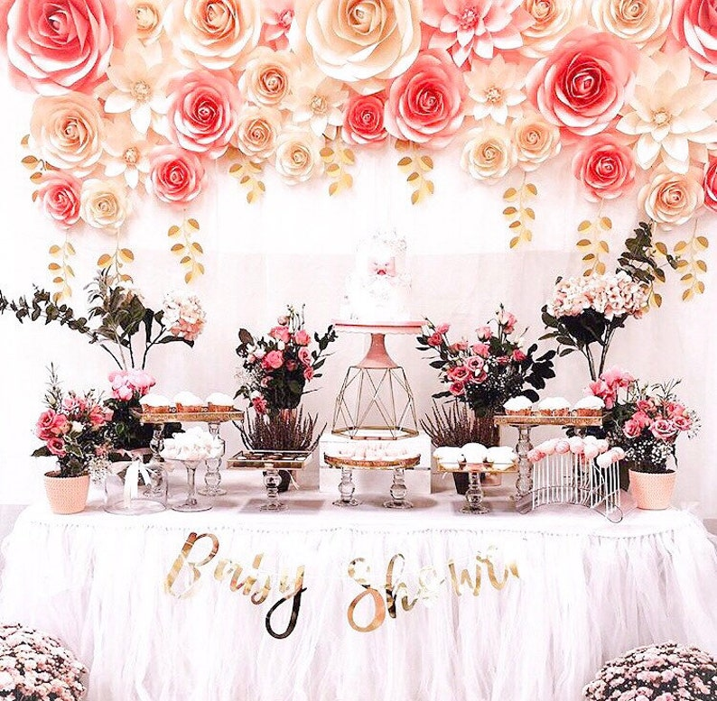 How to make large paper flower backdrop