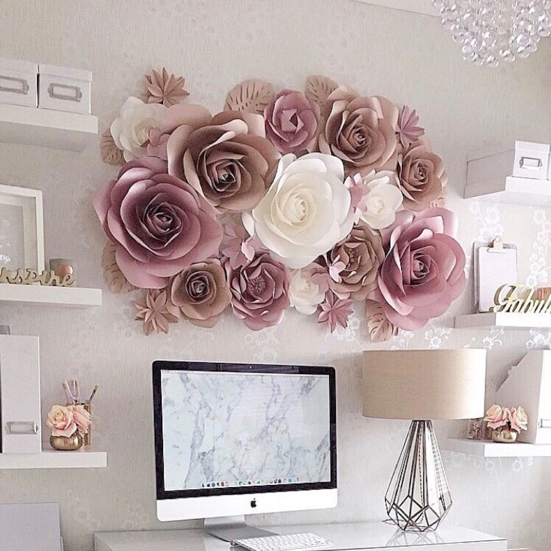 Paper Flowers Decorations Large Paper Flowers Nursery Paper Flowers Paper Flowers Wall Decor Paper Flower Wall