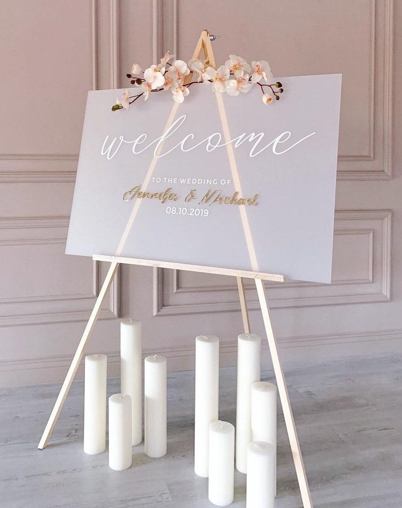 Hochzeitsschild Acryl frosted weiß