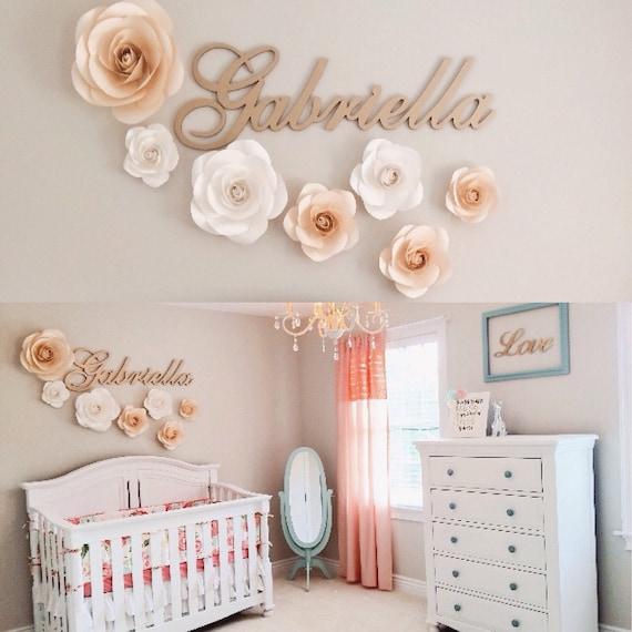 Grosse Papierblumen Kinderzimmer Wand Dekor Etsy