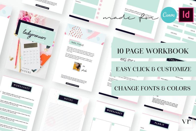 BUNDLE! Ladyluck Canva Templates - Canva Template, workbook, worksheet,  planner