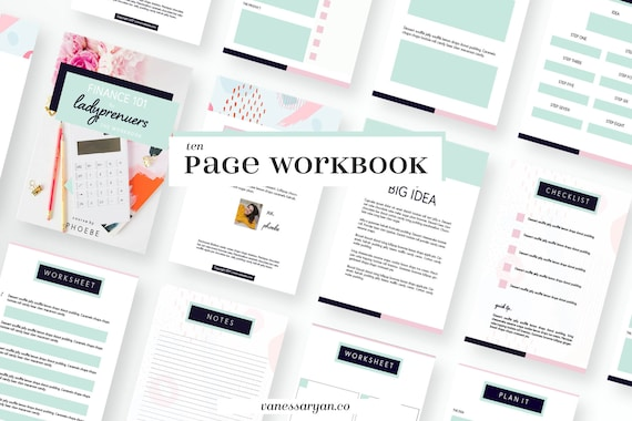 ladyprenuer canva workbook templates for bloggers and business etsy