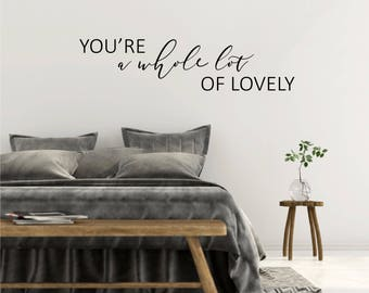 Bedroom Wall Sticker Love Quote Over Bed Decor Vinyl Wall   Etsy