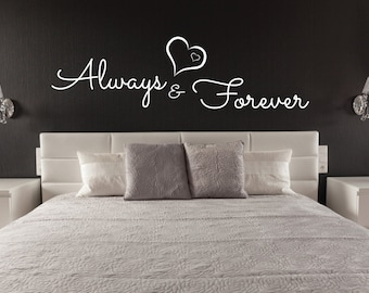 Above Bed Wall Sticker Love Design Infinity Love Symbol