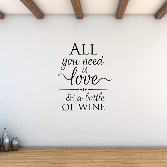 Wine is bottled poetry...WALL QUOTE DECAL VINYL LETTERING SAYING