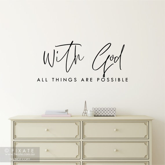 LIVE SIMPLY LEAVE THE REST TO GOD WALL QUOTE DECAL VINYL WORDS RELIGIOUS HOME
