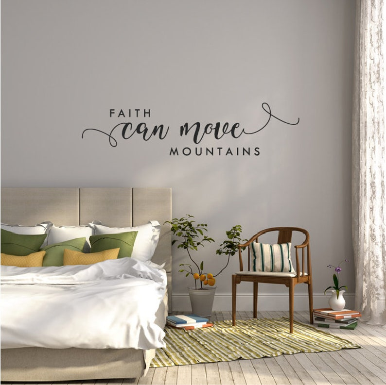 bible verse wall decal quote bedroom scripture wall sticker | etsy