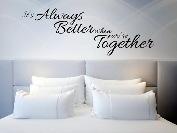 Wall Stickers Always Kiss Goodnight Love Bedroom Quote Art Sticker Decal Vinyl