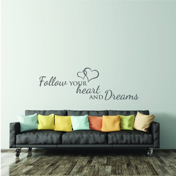 Wall Decal Bedroom Quote Inspirational Wall Sticker Saying Etsy