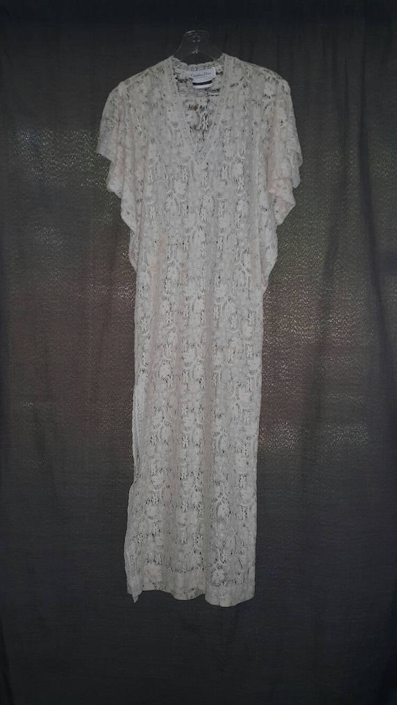 Vintage Christian Dior Lounge Wear Lace Dresses Wo
