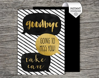 printable farewell card printable goodbye card i ll etsy