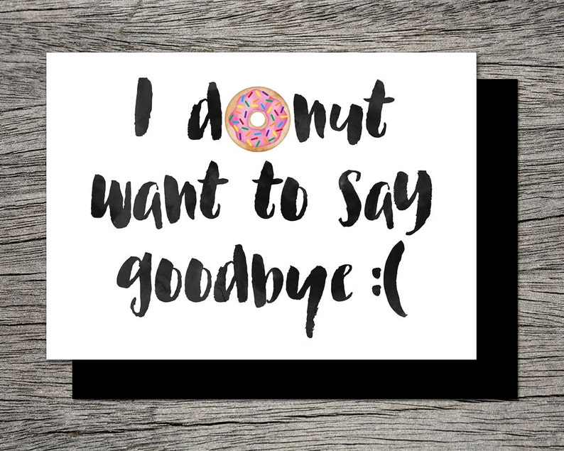 It is an image of Resource Farewell Card Printable