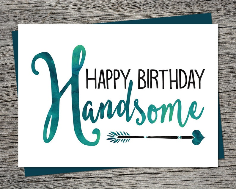 Birthday Card Happy Handsome Printable