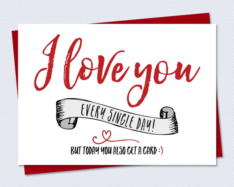 graphic regarding Funny Valentines Day Cards Printable known as Amusing Valentines Working day Card - I delight in your self every single one working day, nevertheless currently yourself order a card - Printable Card