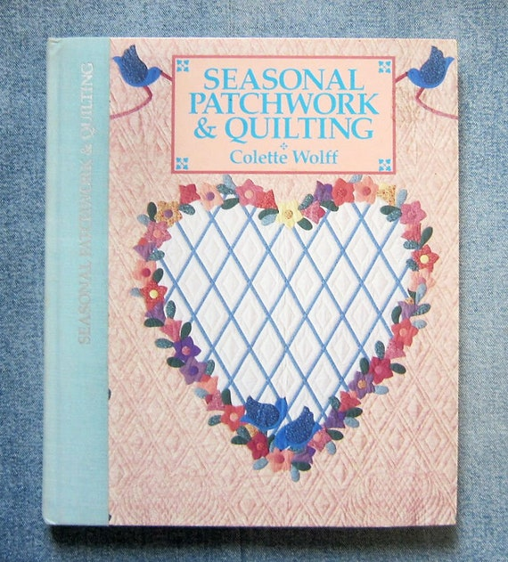 Vintage Applique Sewing Book Seasonal Patchwork Quilting Etsy