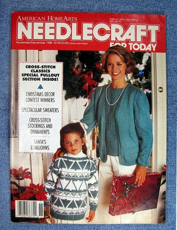 Vintage Christmas Magazine Needlecraft For Today Nov Dec Etsy