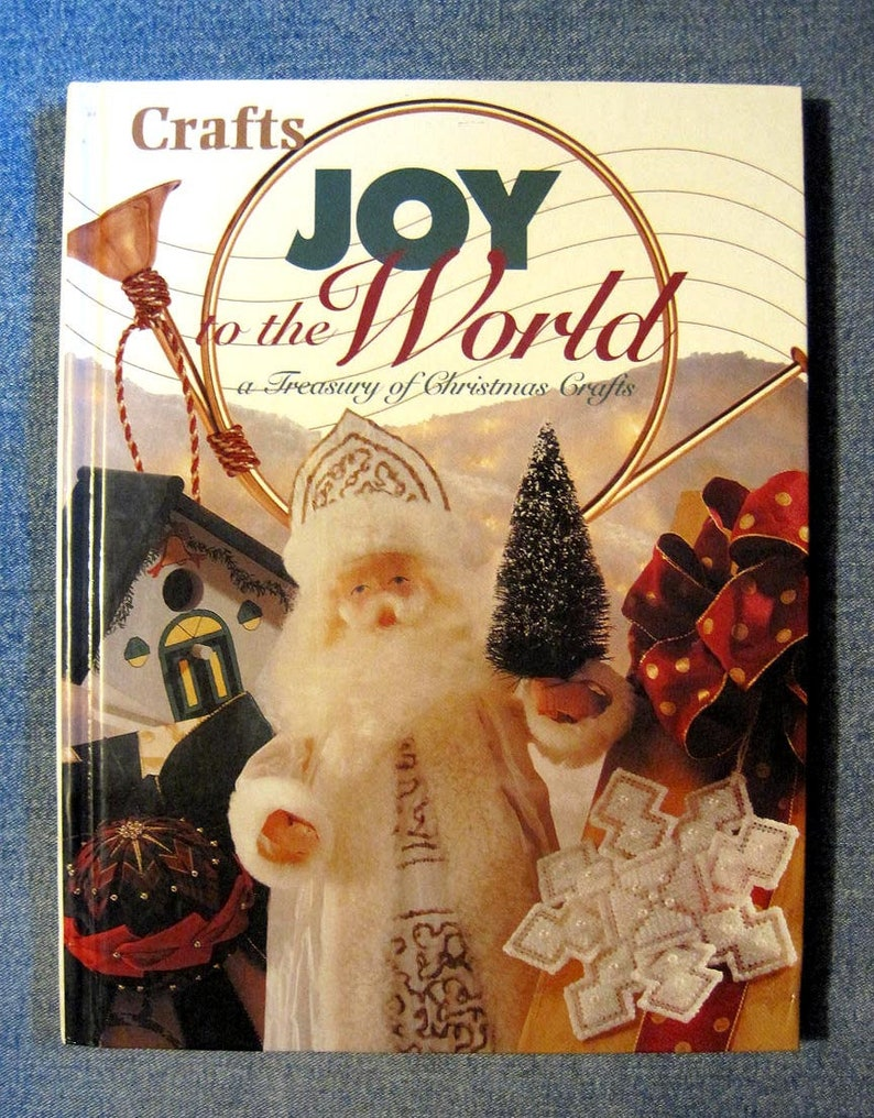 Christmas Craft Book Joy To The World Holiday Decor Ideas Etsy