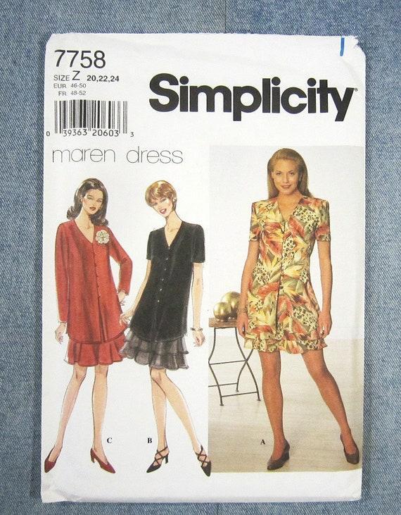4391 Vintage Butterick SEWING Pattern Misses EASY Dress UNCUT OOP SEW