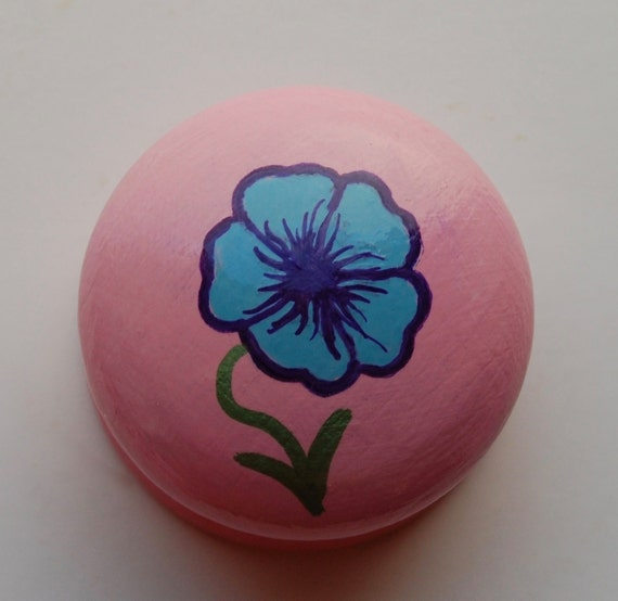 Pansy Drawer Knob/ Cupboard Handle- Pink Handle- 3 Designs Available- 3 sizes available 30mm, 40mm, 53mm