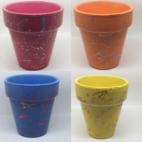 Splatter Succulent Plant Pots 3 Colours Available