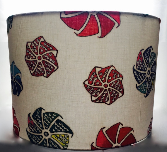 Windmill Lampshade Made With Vintage Kimono Cotton 2 Sizes Available 20cm 30cm 8 inches 12 inches