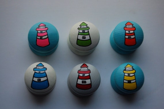 Lighthouse Drawer Knob 6 Colours Available