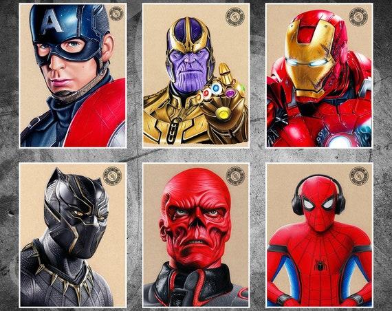 Avengers 6 Print Pack - Fine Art Print Bundle
