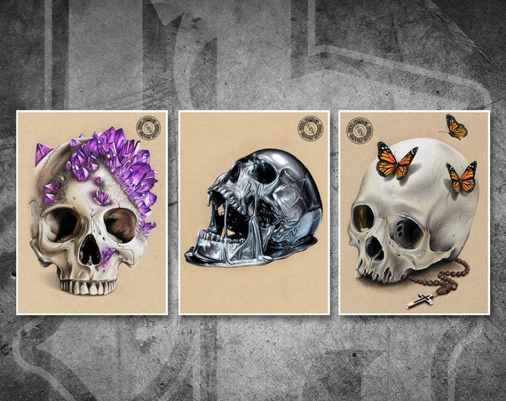Skulls Print Pack - Fine Art Print Bundle