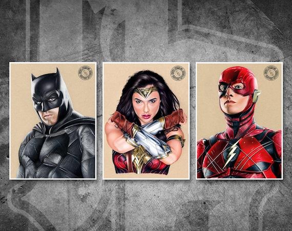 Justice League Print Pack - Fine Art Print Bundle