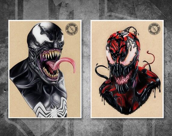 Venom & Carnage Symbiote Print Pack - Fine Art Print Bundle