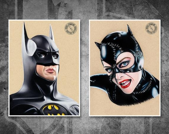 Batman & Catwoman Print Pack - Fine Art Print Bundle