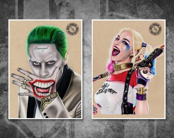 The Joker & Harley Quinn Print Pack - Fine Art Print Bundle