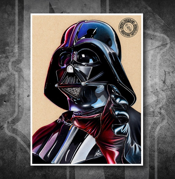 Darth Vader - Fine Art Print - Hand Drawing