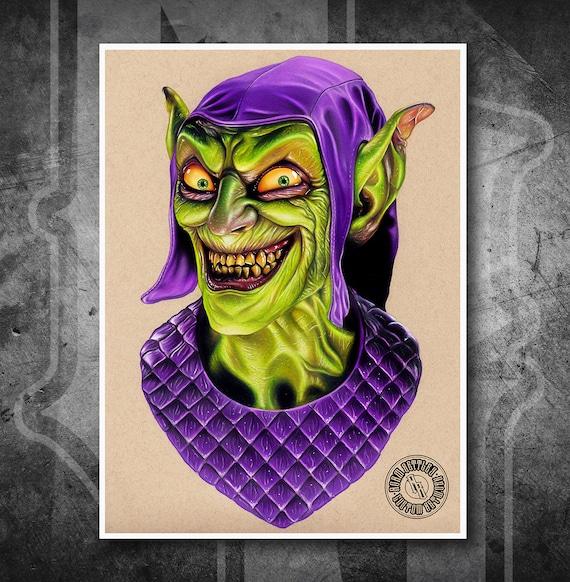 Green Goblin - Fine Art Print - Hand Drawing