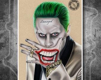 Joker Suicide Squad - Fine Art Print - Hand Drawing