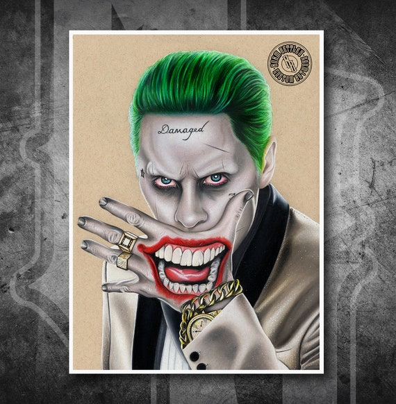 Joker Suicide Squad - Fine Art Print - Hand Drawing