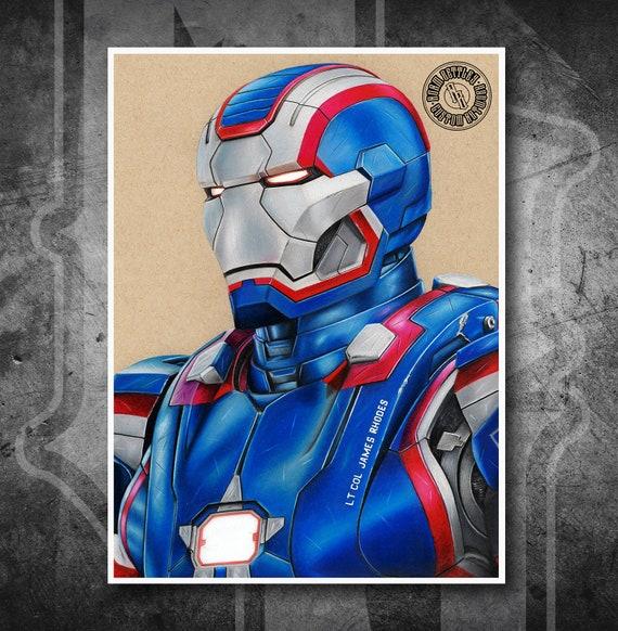 Iron Patriot - Fine Art Print - Hand Drawing