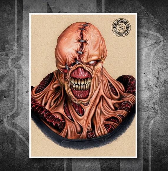 Resident Evil Nemesis - Fine Art Print - Hand Drawing
