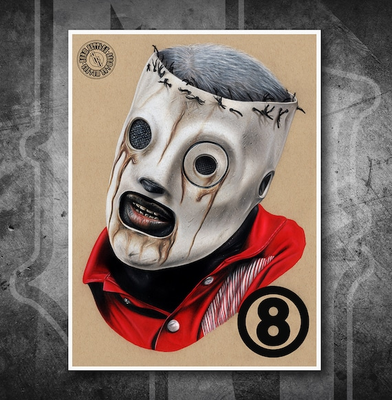 Slipknot: Corey Taylor - Fine Art Print - Hand Drawing