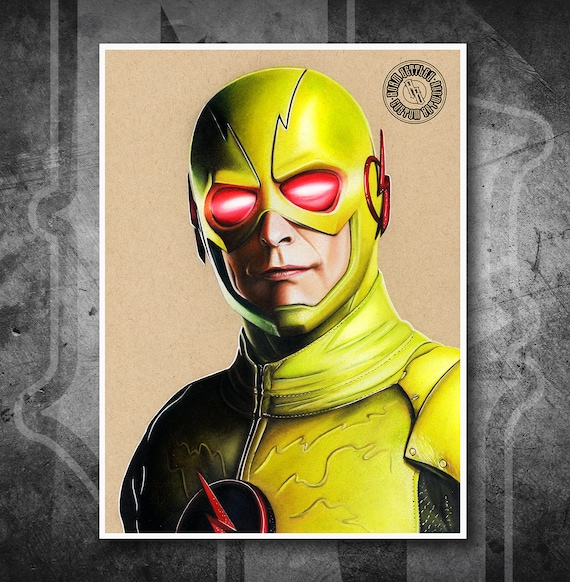 Reverse Flash - Fine Art Print - Hand Drawing